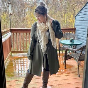 Forever 21 Olive Green Trench Coat